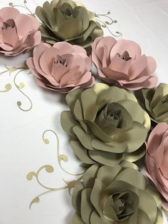 On Sale READY TO SHIP Paper flowers backdrop 3D flowers