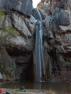 some of the state's famous waterfalls! Pictured is Capote Falls near Marfa, Texas.
