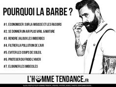 Pourquoi porter la barbe ? - L'homme Tendance #barbe #beard #hipster