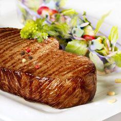 Steak: Charolais Beef Steakhüfte    http://www.gourmetfleisch.de/rind/charolais-steakhuefte.html#