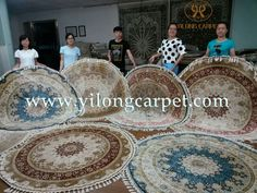 Our fine handmade silk round rugs are from yilong carpet. Which one do you like? www.yilongcarpet.com More information about the handmade silk rugs, please contact Ms. Alice Zheng. alice@yilongcarpet.com whatsapp: 0086 15638927921