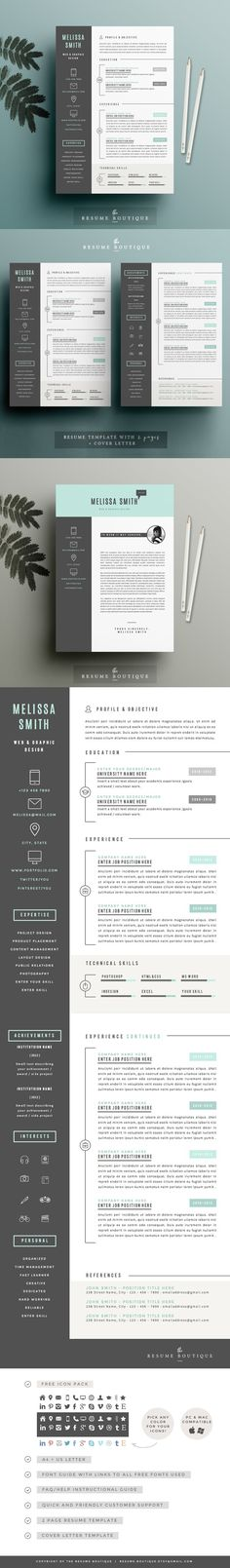 Resume template + FREE Cover Letter - Resumes Girlboss - resume templates website