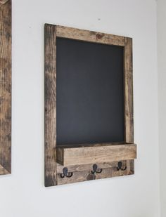 Hand Made Rustic Entryway Chalkboard Mail & Key Organizer – Bushel Basket Home Decor