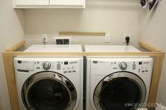 DIY built in washer + dryer - Crazy Wonderful
