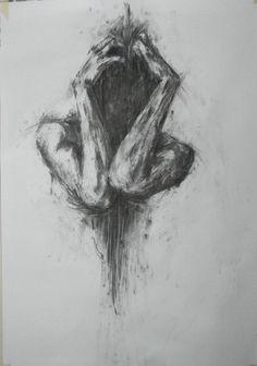 Garotas. Sentimentos. Solidão. Confusão. Desenho. Arte. Preto e branco.