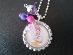 Daisy Necklace Little Girls Beaded Jewelry Children Disney Daisy Duck.
