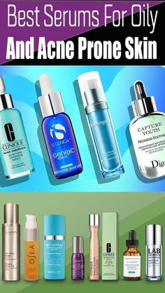 Best Serum For Oily Skin In The Philippines - What exactly are face serums and why do we should use them? Well, a face serum can everything a lotion does Best Hydrating Serum, Best Vitamin C Serum, Best Face Serum, Moisturizer For Oily Skin, Oily Skin Care, Acne Prone Skin, Oily Skin Routine, Skin Care Routine Steps, Skincare Routine