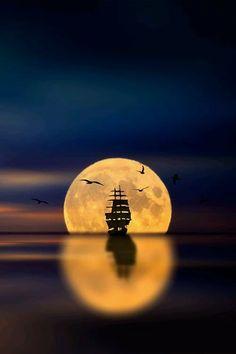 Foto Beautiful World, Beautiful Places, Beautiful Pictures, Beautiful Moon Images, Beautiful Sunset, Moon Pictures, Nature Pictures, Moon Pics, Moon Photos
