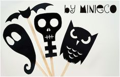 Shadow Makers for Halloween. Templates included!