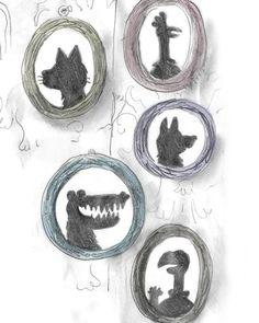 #silhouette #illustration #childrensillustration #animals