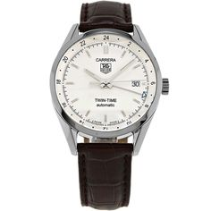 Tag Heuer Stainless Steel Carrera Twin Time Mens Automatic Watch WV2116