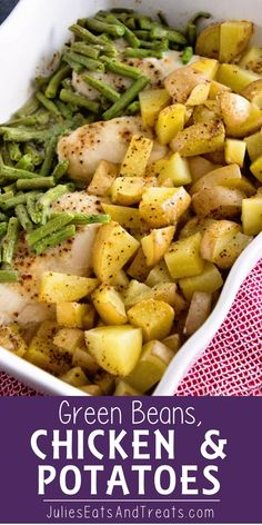 Beans, Chicken & Potatoes ~ One Pan Wonder Dinner That Will Be a Hit With Green Beans, Chicken & Potatoes ~ One Pan Wonder Dinner That Will Be a Hit With . -Green Beans, Chicken & Potatoes ~ One Pan Wonder Dinner That Will Be a Hit With . Easy Family Dinners, Family Meals, Easy Family Recipes, Easy Recipes, Easy Dinners For One, Chicken Potatoes, Cooking Recipes, Healthy Recipes, Healthy Dinner Recipes
