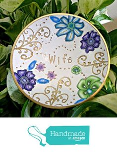 Wife Ring Dish Handmade Jewelry Holder Wedding Gift- Polymer Clay Dish- Home Decor- Gifts for Her Ready to Ship from SK  Artisan Jewelry & Gifts https://www.amazon.com/dp/B01N98WOUP/ref=hnd_sw_r_pi_dp_7jJoyb485YQCS #handmadeatamazon