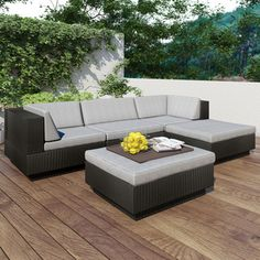 @Overstock - Sonax 'Park Terrace' Textured Black 5-piece Sectional Patio Set - Textured Black 5 Piece Double Armrest Sectional Set  http://www.overstock.com/Home-Garden/Sonax-Park-Terrace-Textured-Black-5-piece-Sectional-Patio-Set/8057375/product.html?CID=214117 $2,249.00