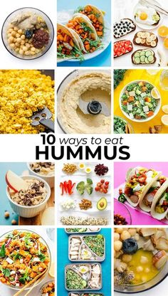 Do you love hummus? Here are 10 of our favorite ways to eat hummus, from the simple veggie dips to salad dressing to dessert! #hummus #dip #appetizer #snack #vegan #vegetarian Tasty Vegetarian Recipes, Vegetarian Meal Prep, Healthy Recipes On A Budget, Beef Recipes, Vegan Vegetarian, Budget Meals, Vegetarian Italian, Delicious Recipes, Italian Recipes