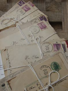Tattered Tiques--old letters and envelopes letters aesthetic Letters From Home, Old Letters, Envelope Carta, Envelopes, My Academia, Material Didático, You've Got Mail, Handwritten Letters, Old Love