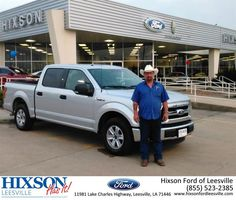 https://flic.kr/p/GEP5eW | Congratulations Thomas on your #Ford #F-150 from Jason Olfers at Hixson Ford of Leesville! | deliverymaxx.com/DealerReviews.aspx?DealerCode=VSBU