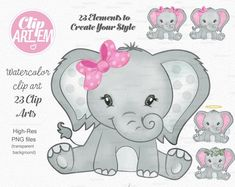 May be the cutest elephant I've ever seen Baby Elephant Clipart, Baby Elephant Drawing, Baby Girl Elephant, Elephant Baby Showers, Cute Elephant, Elephant Artwork, Elephant Cakes, Elephant Party, Elephant Theme