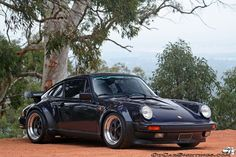 The Porsche 911 is a truly a race car you can drive on the street. It's distinctive Porsche styling is backed up by incredible race car performance. Porsche Classic, Black Porsche, Classic Cars, Carros Porsche, Porsche Autos, Porsche Cars, 1989 Porsche 911, Porsche 930 Turbo, 911 Turbo