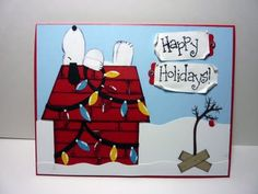 Snoopy!!  using SU punches.  LOVE IT!