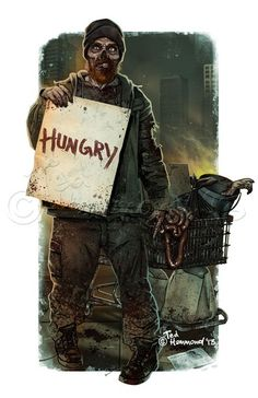 Homeless Zombie by Ted Hammond on ARTwanted