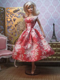 Rockabilly Dress in Nantucket Rose by Bellissimacouture on Etsy