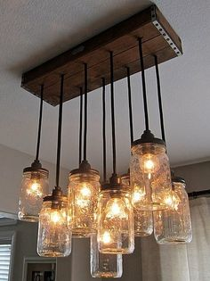 mason jar lights / 21 DIY trends that dominated 2012