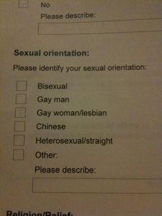 Sexual orientation: Chinese