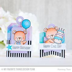 Tag Builder Blueprints 4 Die-namics, Beary Special Birthday Stamp Set and Die-namics - Keeway Tsao  #mftstamps
