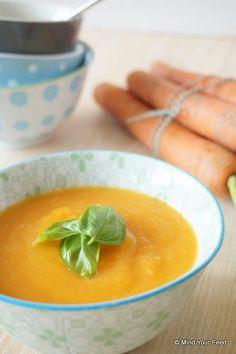 Wortel courgette soep