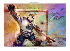 The Artist - 0ne of a series of eight hockey goalie artworks  http://www.hockeyartist.com
