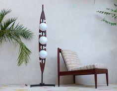 Floor lamp vintage teak Reggiani by CollectionIt on Etsy