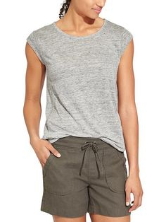 Newport tee--Athleta $59.  I like the cap sleeves and the detail on the sides.
