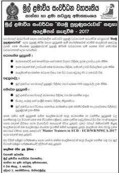 Sri Lankan Government Job Vacancies At Ministry Of Mahaweli