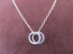 Delicate Eternity Sterling Silver and Gold-Filled Necklace by FayWestDesigns, $30.00
