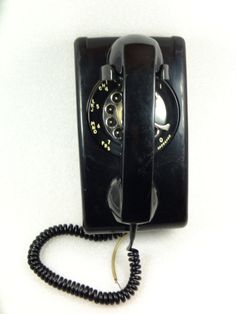 Vintage Wall Mount Rotary Dial TelePhone  ITT Made by ContesDeFees