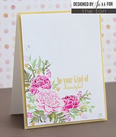 Floral; botanical; pink and green; fabulous; amazing stamp set