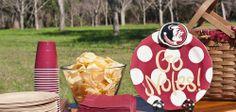 Florida State University Collegiate Celebrations Platter with Logo Mini Attachment | Coton Colors