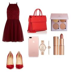 """""""Untitled #24"""" by elizanico ❤ liked on Polyvore featuring beauty, New Look, Christian Louboutin, Givenchy, Michael Kors and Charlotte Tilbury"""