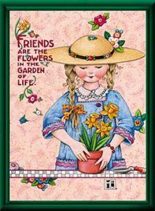 Mary Engelbreit Friends Flowers 11x14 Framed Print