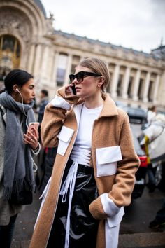 Street style at Paris Fashion Week fall 2017