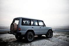 Mitsubishi Pajero -> Hyundai Galloper -> Mohenic Garages redesign - MohenicG Classic offlook for Grey. www.the.co.kr
