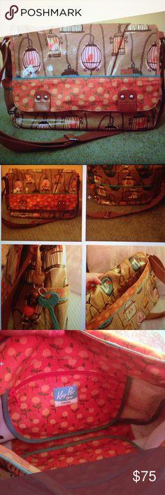 Selling this Fossil Bird Cage Key Per Messenger Bag/Book bag in my Poshmark closet! My username is: lpb91996. #shopmycloset #poshmark #fashion #shopping #style #forsale #Fossil #Handbags