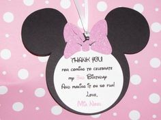 Sparkle Pink Minnie Mouse Birthday Gift by uniqueboutiquebygami, $8.00