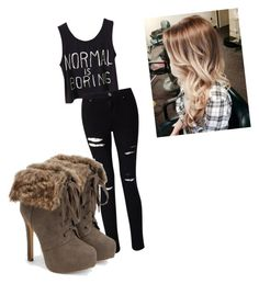 """""""Untitled #21"""" by alevsumer on Polyvore featuring Miss Selfridge and JustFab"""