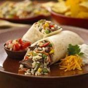 Fajita Steak and Rice Wraps