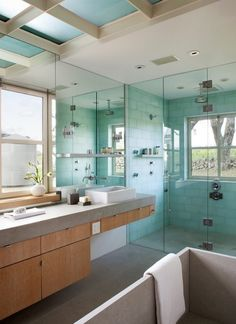 spa bathroom glass shower enclosure How to Infuse Your Bathroom With Spa Amenities