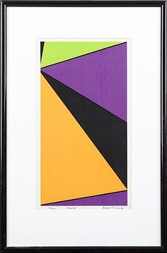 Olle Baertling Polaroid Film, Abstract, Image, Design, Art, Style, Pintura, Auction, Summary