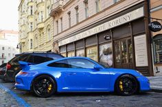 Porsche 991 GT3...hard to beat the looks of a GT3...especially with the ultra rare Riviera Blue paint. 10/10