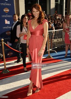 """Actress Amanda Righetti attends the premiere of """"Captain America: The First Avenger"""" at the El Capitan Theatre on July 2011 in Hollywood, California. Amanda Righetti Captain America, Tobin Heath, Red Bodysuit, Shawn Johnson, Aly Raisman, Red Heads, Vanessa Hudgens, Celebs, Celebrities"""